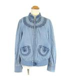 マークジェイコブス MARC JACOBS デニムジャケット ブルゾン デザイン ジップ ブルー 4 ■VG0