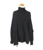 ネネット Ne-net ニット セーター タートルネック 変形 ドルマンスリーブ 長袖 黒 ブラック 2 ■VG0