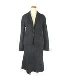 ボールジー BALLSEY トゥモローランド スーツ セットアップ ストライプ ウール ミディアム ひざ丈 38 36 ブラック 黒 ■VG