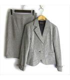 インディヴィ INDIVI セットアップ スカート スーツ ライトツイード 38 グレー ■VG
