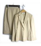 23区 オンワード樫山 セットアップ スカート スーツ ミディアム 38 クリーム ■VG