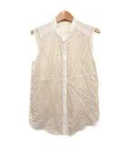デプレ DES PRES トゥモローランド ノースリーブシャツ ブラウス カットソー 格子柄 シルク レース アイボリー 1