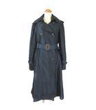 トゥモローランドコレクション TOMORROWLAND collection トレンチコート シルク スプリング ロング ベルト付 ネイビー 紺