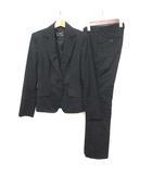 クードシャンス CdeC COUP DE CHANCE スーツ セットアップ ジャケット スラックス シルク混 ブラック 黒 38 ■VG