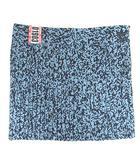 アディダス adidas AI PLEAT SKIRT プリーツスカート オリジナルス 総柄 ミニ丈 総柄 ブルー M DH2971 ■VG