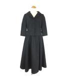 シビラ SYBILLA セットアップ スカート スーツ ロング丈 フレア 7分袖 ブラック M IBS77