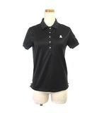 ポロシャツ 半袖 ゴルフウエア スカル ストレッチ ブラック 黒 M IBS88