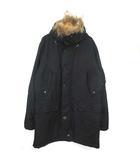 モルガン MORGAN HOMME モッズコート 中綿 ファー付き XL 黒 ブラック
