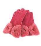 アグ オーストラリア UGG australia 手袋 グローブ ムートン 羊革 リボン ピンク RRR