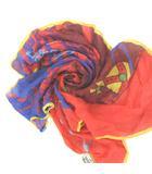 ヴィヴィアンウエストウッド Vivienne Westwood スカーフ オーブ ロゴ プリント オレンジ ブルー