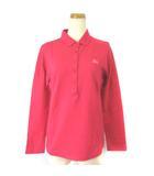 バーバリーゴルフ BURBERRY GOLF ポロシャツ 長袖 ワンポイント 刺繍 ピンク 2 ECR2