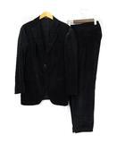 エンポリオアルマーニ EMPORIO ARMANI スーツ セットアップ ベロア 2B サイドベンツ 黒 ブラック 48 ECR3