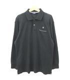 マンシングウェア MUNSINGWEAR ゴルフウェア ポロシャツ ニット 長袖 刺繍 ワンポイント LL ブラックRRR