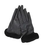 アグ オーストラリア UGG australia 手袋 グローブ レザー 羊革 20cm ブラック 黒  RRR