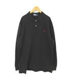 ポロ バイ ラルフローレン Polo by Ralph Lauren ポロシャツ 鹿の子 長袖 3L 黒 ブラック RRR