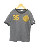 Tシャツ カットソー プリント 半袖 ナンバリング チャコールグレー M