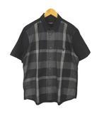 ブラックレーベルクレストブリッジ BLACK LABEL CRESTBRIDGE 51M33-530-06 シャツ 半袖 クレストブリッジチェック ワンポイント ブラック グレー LL