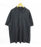 ルイヴィトン LOUIS VUITTON ポロシャツ 半袖 LVロゴ 刺繍 チャコールグレー XXL ECR6