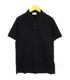 モンクレール MONCLER 19SS ジーニアス CRAIG GREEN ポロシャツ 半袖 鹿の子 エンボス ロゴ 黒 ブラック XS ECR7
