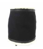 ディースクエアード DSQUARED2 ムートン ウール ミニ スカート ブラック 黒 40 ECR7