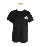 モンクレール MONCLER 18AW Tシャツ カットソー 半袖 ダブル ワッペン 黒 ブラック XS D20918032500 8390Y