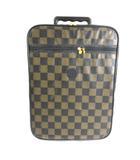 ヴィンテージ キャリーバッグ スーツケース ペカン トラベル バッグ ゴールド金具 ブラウン ブラック