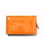 ケイトスペード KATE SPADE KATE SPADE ケイトスペード エナメル ロゴ 二つ折り 財布 ウォレット オレンジ /◆☆