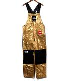 シュプリーム SUPREME 未使用品 2018SS SUPREME × THE NORTH FACE シュプリーム ノースフェイス Metallic Bib Pants メタリック オーバーオール ツナギ S GM gold/●