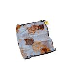 フェンディ FENDI 未使用品 FENDI フェンディ シルク100% お魚 海 スカーフ ライトブルー /◆