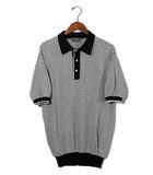 バリー BALLY BALLY バリー コットン 総柄 半袖 ニット ポロシャツ 50 ホワイト イタリア製 春夏 /◆