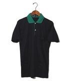 ダンヒル dunhill dunhill ダンヒル コットン カットソー地 半袖 ポロシャツ 38 ダークネイビー 春夏 /◆