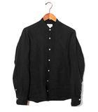 ジャンネット GIANNETTO GIANNETTO ジャネット リネン 長袖バンドカラーシャツ 37 ブラック 春夏 /◆