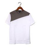 ポールスミス PAUL SMITH 未使用品 PS PAUL SMITH ポールスミス 2トーン 半袖Tシャツ S WHITE 春夏 国内正規品 /◆