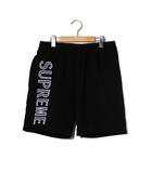 シュプリーム SUPREME 2018SS SUPREME シュプリーム Leg Embroidery Sweatshort ロゴ スウェットショーツ S Black 黒 ショートパンツ/●