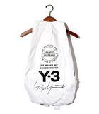 ワイスリー Y-3 未使用品 2018SS Y-3 ワイスリー YOHJI YAMAMOTO × adidas CY3508 BACK PACK バックパック リュック CORE WHITE 白/●