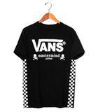 マスターマインド mastermind JAPAN mastermind JAPAN × VANS マスターマインド バンズ Checker Black Tee 半袖Tシャツ M BLACK 春夏 /●