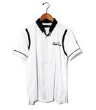 リコ RICO RICO リコ イタリアンカラーボウリングシャツ ボーリングシャツ S WHITE 春夏 /◆