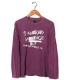 モンタージュ montage montage モンタージュ プリント 長袖Tシャツ M 紫 春夏 /◆