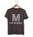 エム M M ×HTC  エム エイチティーシー THANK YOU FRIENDS プリント 半袖Tシャツ S グレー 春夏 /◆