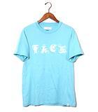 ファセッタズム FACETASM 2019SS FASETASM ファセッタズム FACE BASIC TEE 半袖プリントTシャツ 5 BLUE 春夏 FNT-TEE-U06 /●