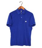 サイ ベーシック SCYE BASICS SCYE BASICS サイベーシック 40/1 KANOKO Polo Shirt 鹿の子ポロシャツ 36 ブルー 春夏 /◆