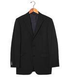 バーバリーブラックレーベル BURBERRY BLACK LABEL BURBERRY BLACK LABEL バーバリーブラックレーベル Super100's 背抜き ストライプ 2B セットアップ シングルスーツ 46程度 BLACK ブラック /◆
