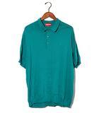 シュプリーム SUPREME SUPREME シュプリーム Knit Polo 刺繍 ニット ポロシャツ XL Teal/●