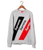 シュプリーム SUPREME 2015SS SUPREME シュプリーム Athletic Split Crewneck アスレチック スプリット クルーネック スウェット L Grey/●