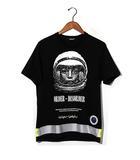 アンダーカバー UNDERCOVER 2018AW UNDERCOVER アンダーカバー UCV4810 リフレクターテープ プリント Tシャツ 2 B.BLACK 黒/●