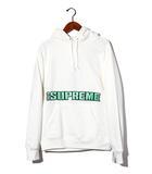 シュプリーム SUPREME 未使用品 2019SS SUPREME シュプリーム Blockbuster Hooded Sweatshirt プルオーバー ロゴ パーカー Medium White 白/●