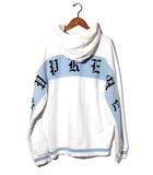 シュプリーム SUPREME 2019SS SUPREME シュプリーム Old English Stripe Zip Up Sweatshirt オールドイングリッシュ ロゴ ジップ パーカー XL White 白/●