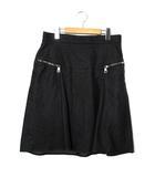 グッチ GUCCI GUCCI グッチ ひざ丈 フレアデニムスカート 44 BLACK ブラック /◆☆