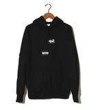 シュプリーム SUPREME 2018AW SUPREME × COMME des GARCONS SHRT シュプリーム コムデギャルソン Split Box Logo Hooded Sweat Shirt ボックスロゴ パーカー M Black 黒/●