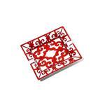 エルメス HERMES 未使用品 HERMES エルメス  ガダルキヴィール アッシュトレイ 灰皿 角皿 赤白 レッド/◆